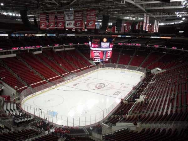 PNC Arena, secção: 310, fila: A, lugar: 20