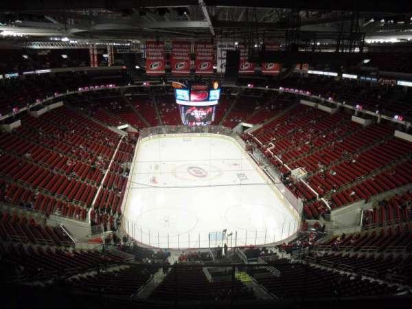 PNC Arena, secção: 316, fila: J, lugar: 1