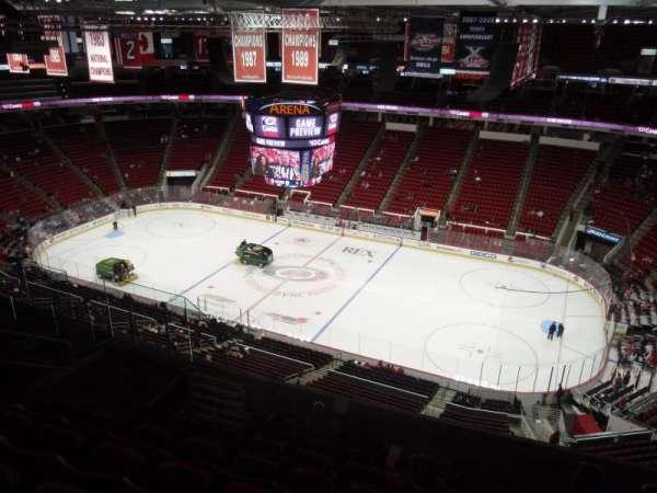PNC Arena, secção: 322, fila: H, lugar: 7