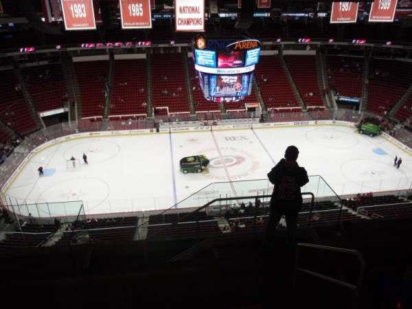 PNC Arena, secção: 325, fila: G, lugar: 1