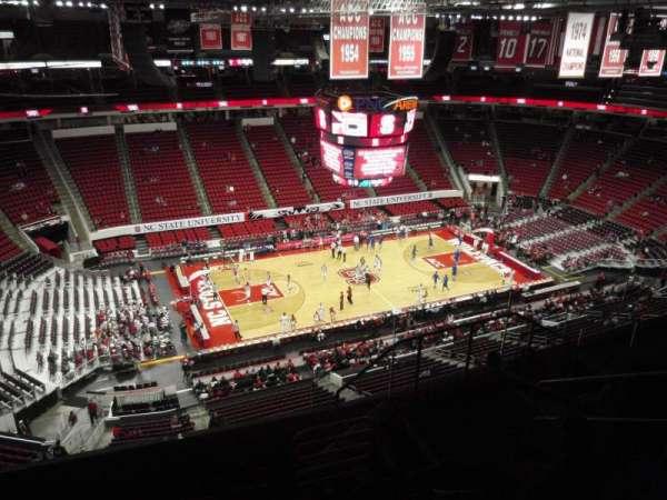 PNC Arena, secção: 306, fila: G, lugar: 6