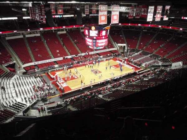 PNC Arena, secção: 307, fila: K, lugar: 4