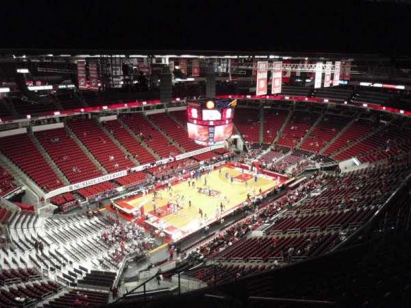 PNC Arena, secção: 309, fila: K, lugar: 3