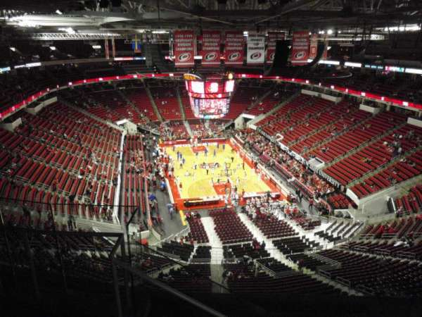 PNC Arena, secção: 315, fila: G, lugar: 15