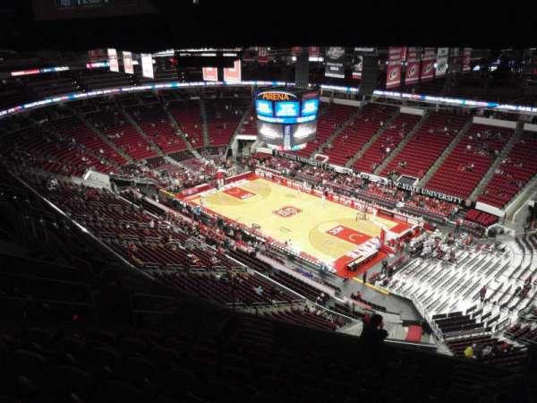 PNC Arena, secção: 320, fila: L, lugar: 6