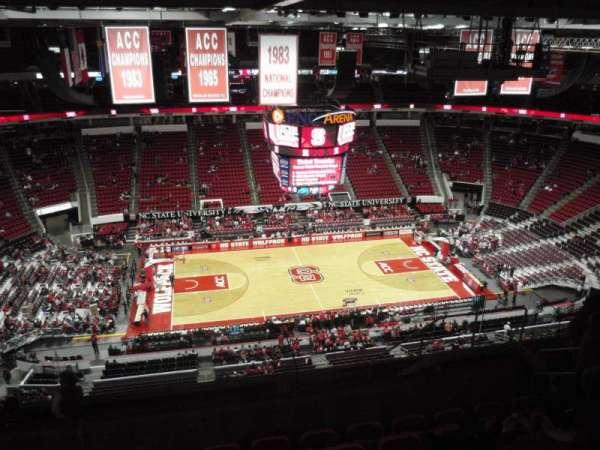 PNC Arena, secção: 325, fila: J, lugar: 9
