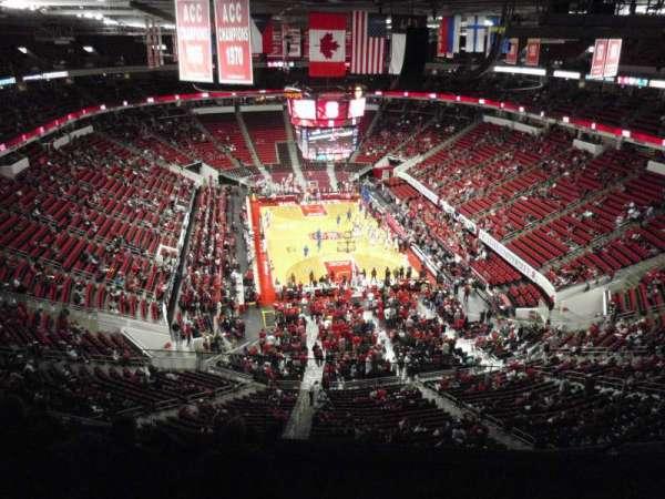 PNC Arena, secção: 334, fila: F, lugar: 5