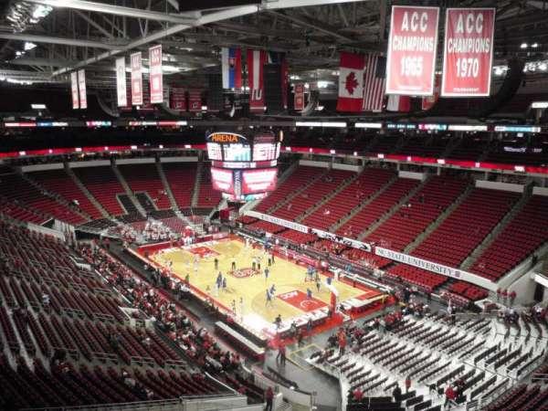 PNC Arena, secção: 336, fila: A, lugar: 19