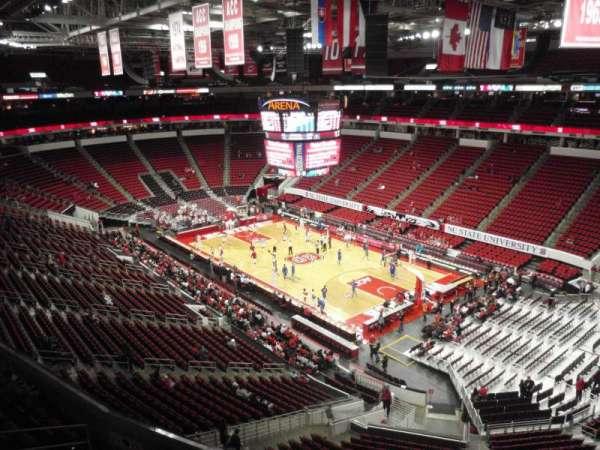 PNC Arena, secção: 337, fila: A, lugar: 6