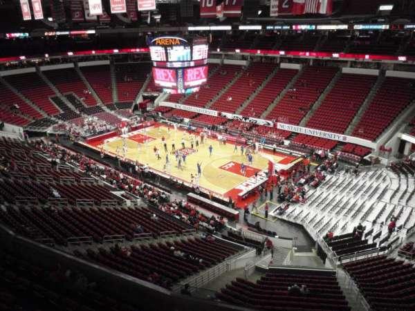 PNC Arena, secção: 338, fila: A, lugar: 14