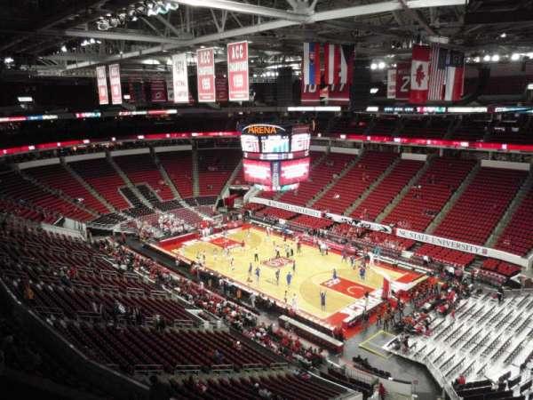 PNC Arena, secção: 338, fila: C, lugar: 5