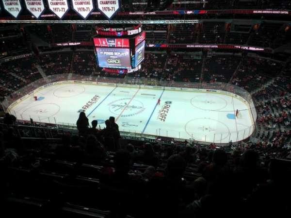 Capital One Arena, secção: 402, fila: P, lugar: 8