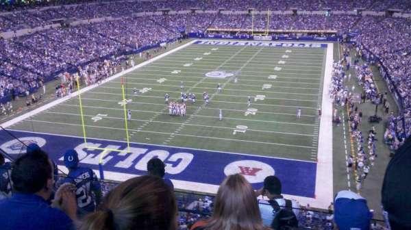 Lucas Oil Stadium, secção: 451, fila: 3, lugar: 20