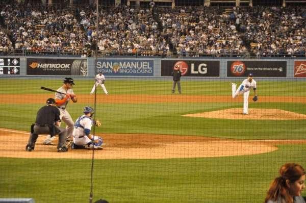 Dodger Stadium, secção: 4FD, fila: D, lugar: 9
