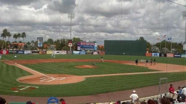 Hammond Stadium at CenturyLink Sports Complex, secção: 107, fila: 15, lugar: 1