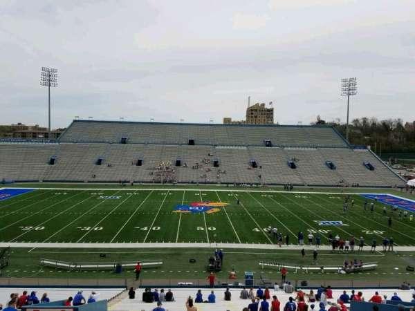 David Booth Kansas Memorial Stadium, secção: 6, fila: 42, lugar: 22