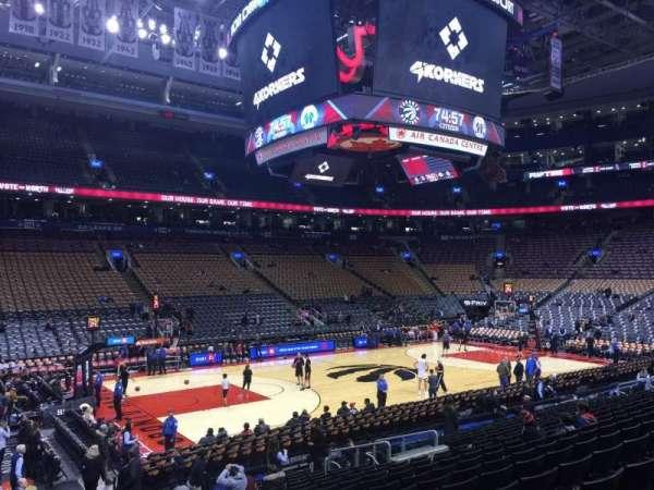Scotiabank Arena, secção: 110, fila: 17, lugar: 4