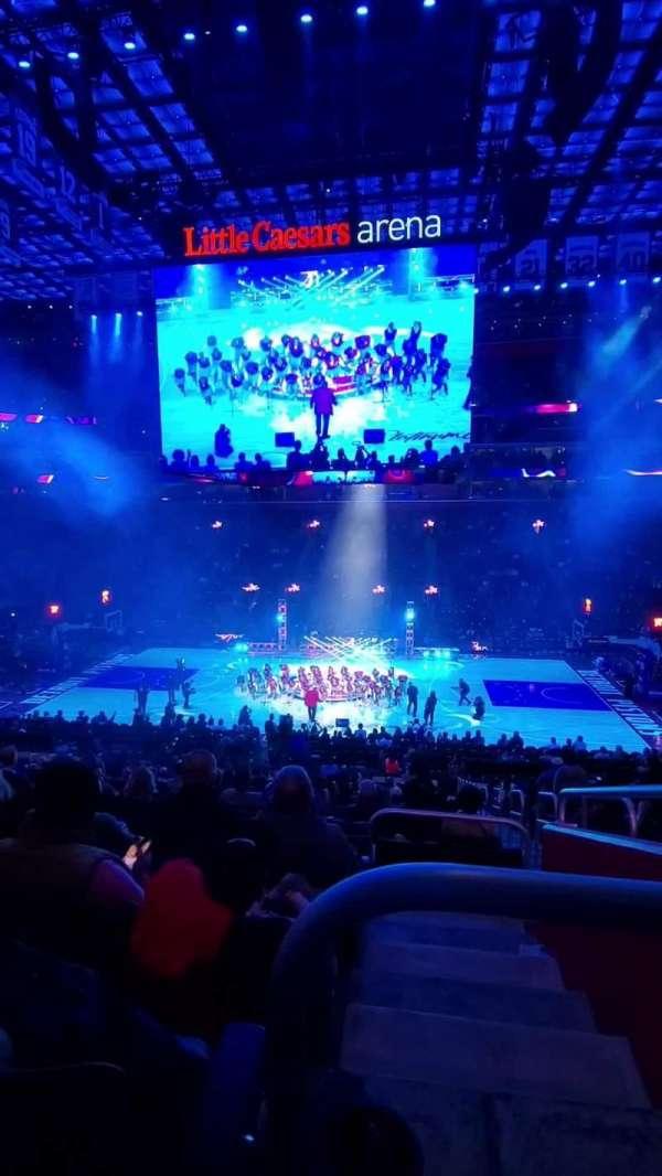 Little Caesars Arena, secção: 109, fila: 22, lugar: 2