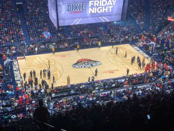 Smoothie King Center, secção: 318, fila: 20, lugar: 8
