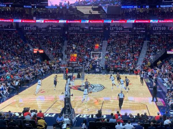 Smoothie King Center, secção: 118, fila: 23, lugar: 20
