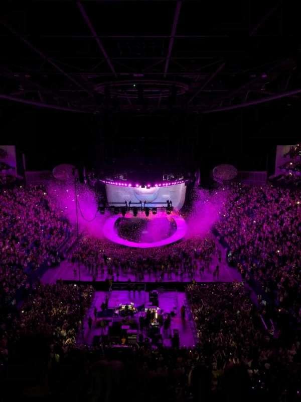 The O2 Arena, secção: 412, fila: E, lugar: 723