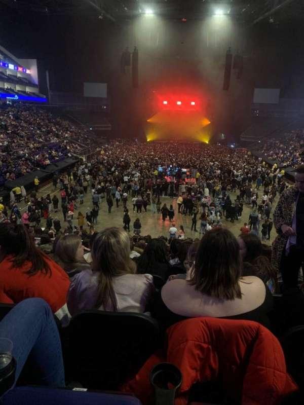 The O2 Arena, secção: 107, fila: X, lugar: 203