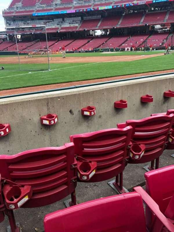Great American Ball Park, secção: 112, fila: C, lugar: 8