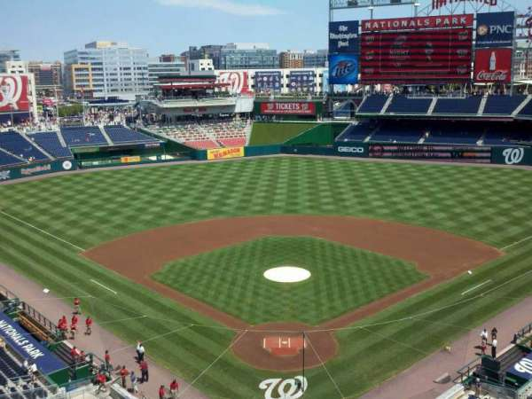 Nationals Park, secção: 314, fila: A, lugar: 17
