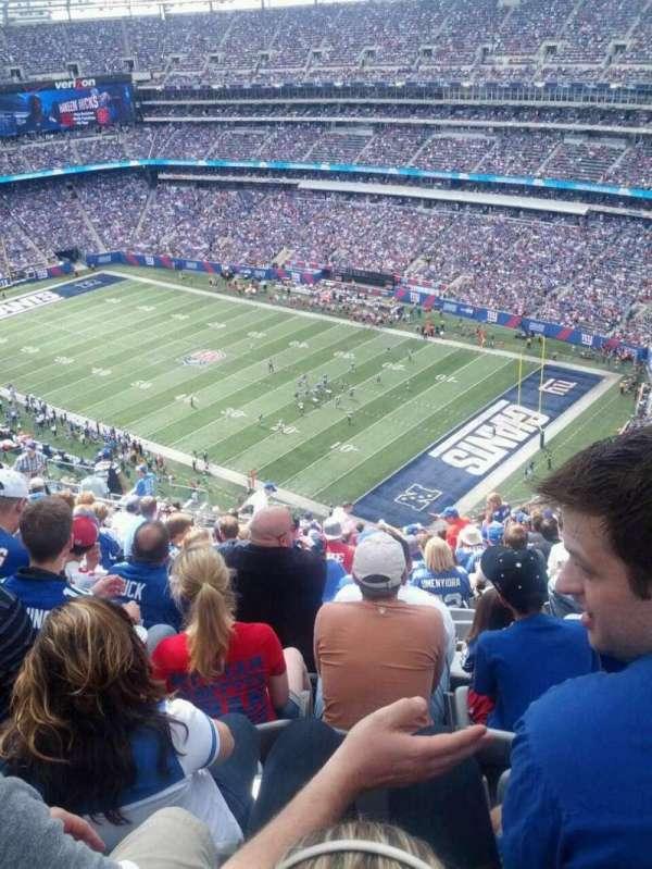 MetLife Stadium, secção: 307, fila: 23, lugar: 19