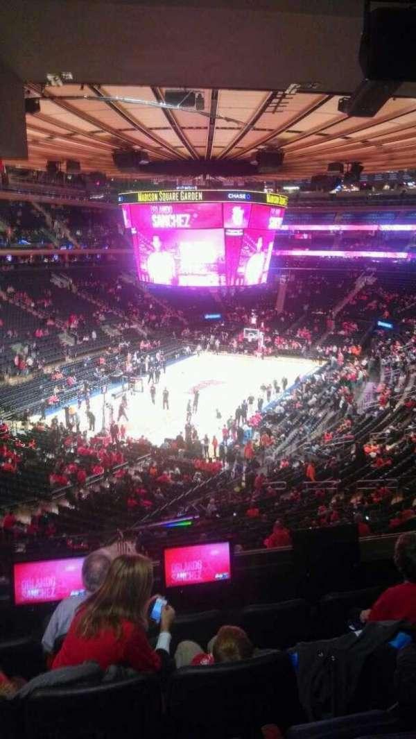 Madison Square Garden, secção: 206, fila: 5, lugar: 13