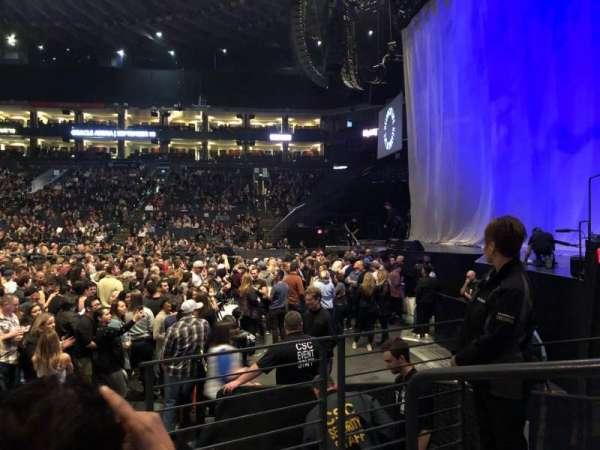 Oracle Arena, secção: 127, fila: 3, lugar: 1