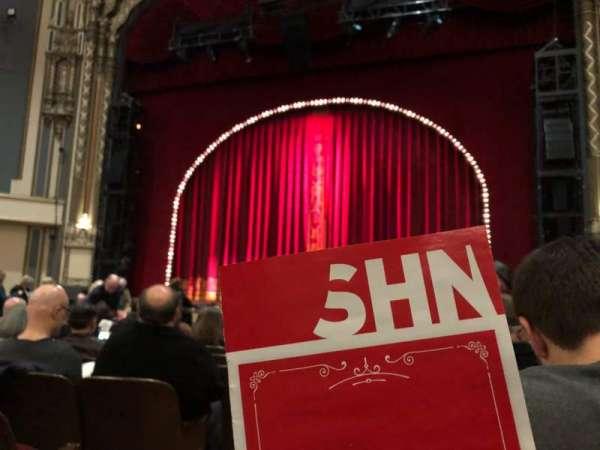 Golden Gate Theatre, secção: Orchestra L, fila: L, lugar: 1