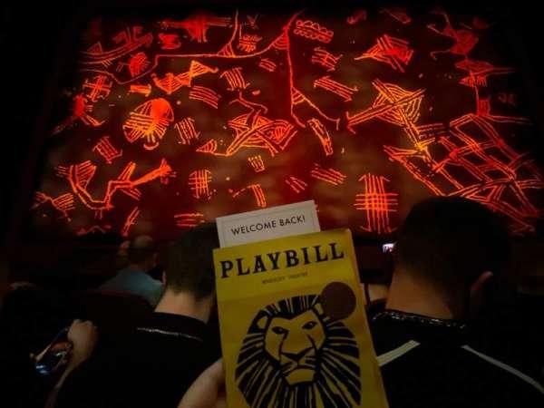 Minskoff Theatre, secção: Orchestra C, fila: C, lugar: 109