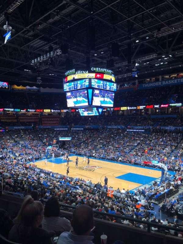 Chesapeake Energy Arena, secção: 220, fila: D, lugar: 9