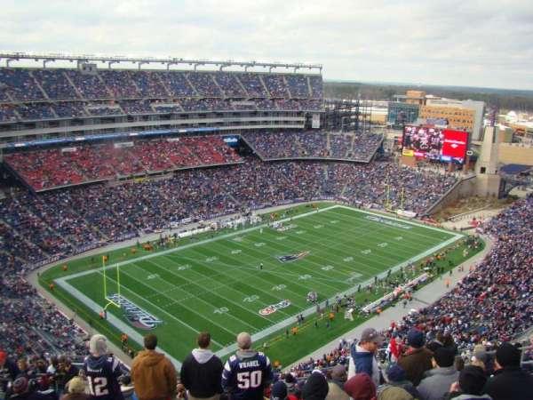 Gillette Stadium, secção: 317, fila: 23, lugar: 16
