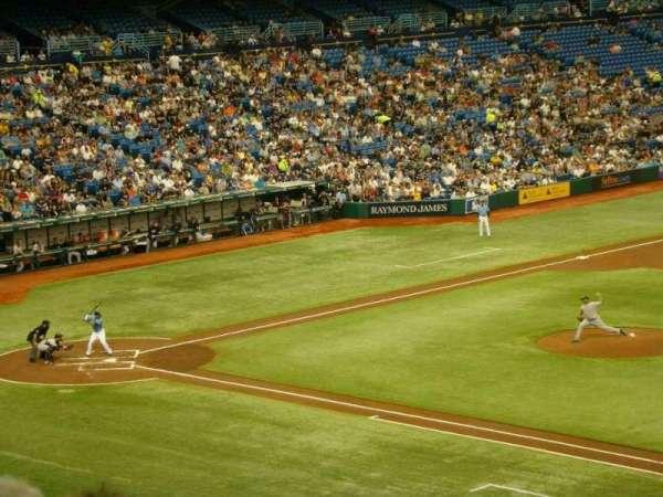 Tropicana Field, secção: 216, fila: E, lugar: 15