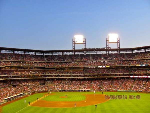 Citizens Bank Park, secção: 203, fila: 6, lugar: 7