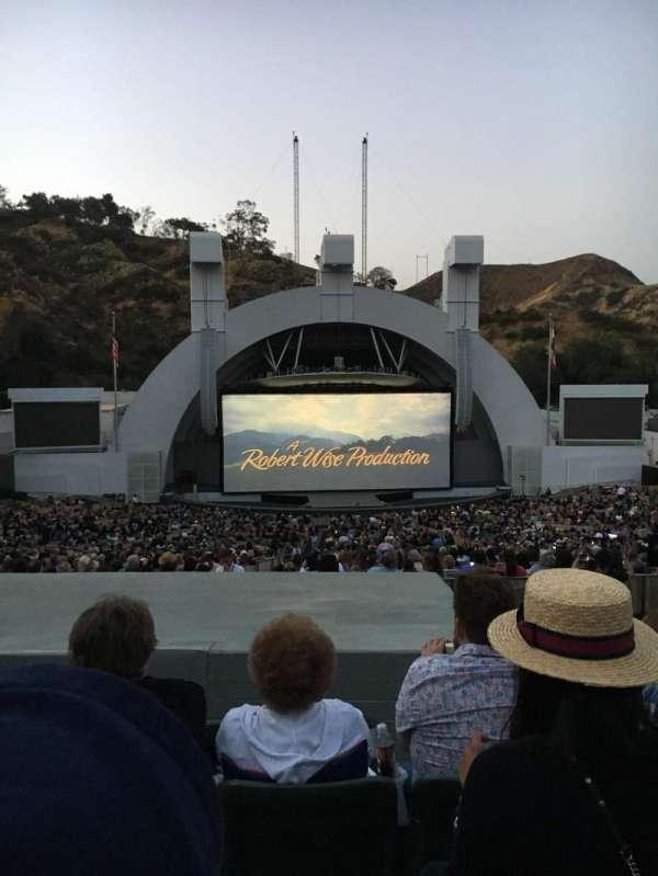 Hollywood Bowl, secção: J1, fila: 8, lugar: 18