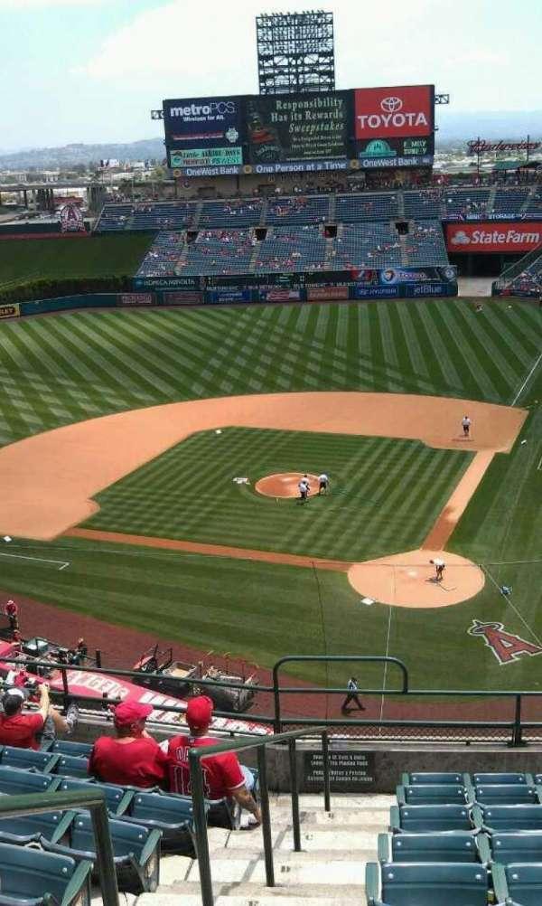 Angel Stadium, secção: V416, fila: j, lugar: 1