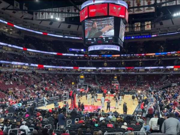 United Center, secção: 105, fila: 13, lugar: 1