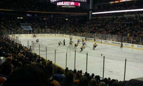 Bridgestone Arena, secção: 118, fila: C, lugar: 1