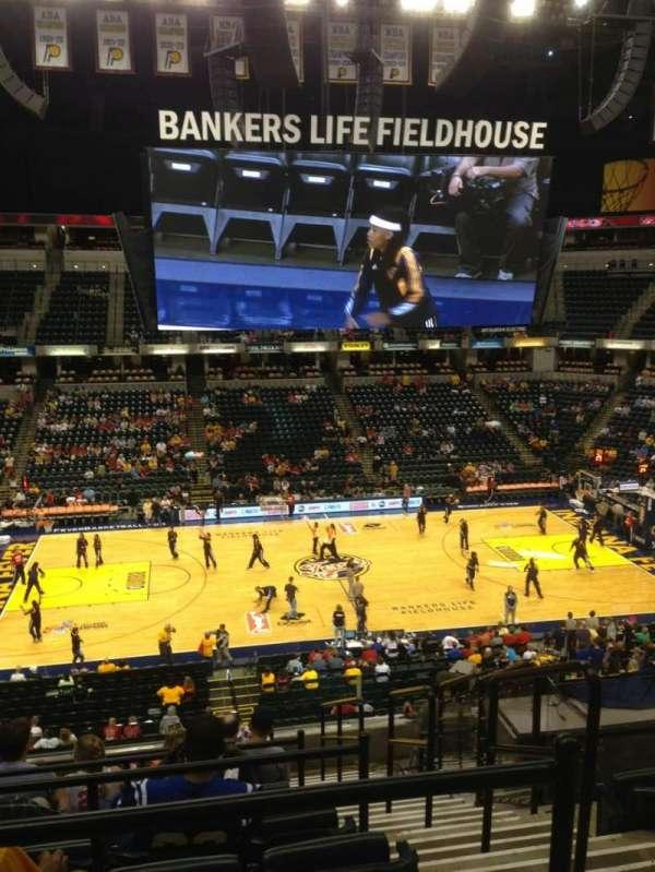 Bankers Life Fieldhouse, secção: 118, fila: 10, lugar: 2