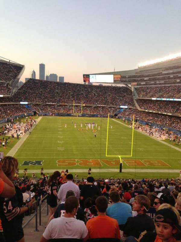Soldier Field, secção: 223, fila: 21, lugar: 1