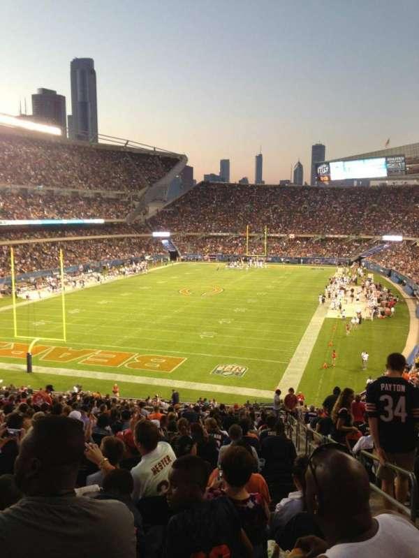 Soldier Field, secção: 220, fila: 21, lugar: 18