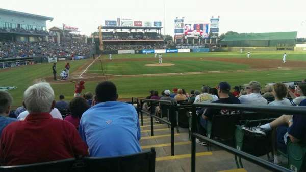 Dell Diamond, secção: 121, fila: 12, lugar: 22