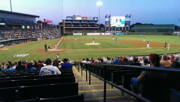 Dell Diamond, secção: 121, fila: 21, lugar: 25