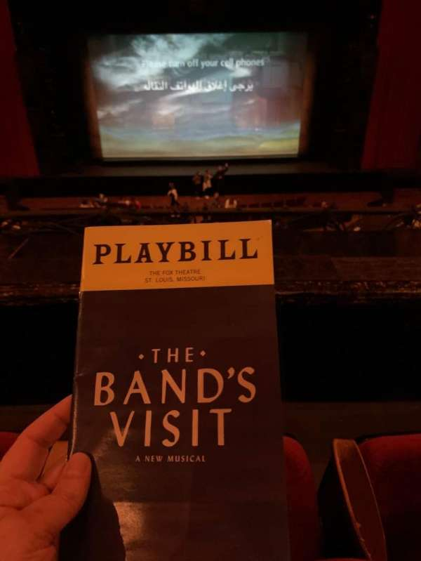 The Fabulous Fox Theatre (St. Louis), secção: Mezzanine, fila: BB, lugar: 107