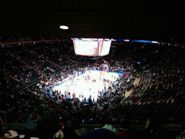 Madison Square Garden, secção: 419, fila: 5, lugar: 3
