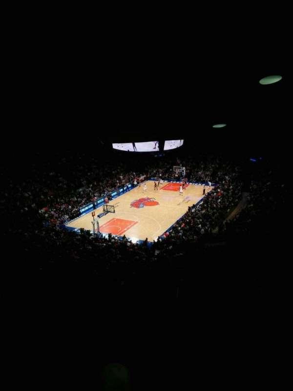 Madison Square Garden, secção: 419, fila: 6, lugar: 9