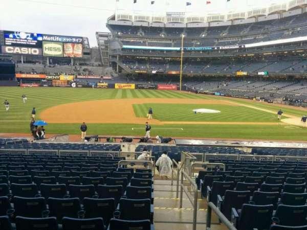 Yankee Stadium, secção: 125, fila: 25, lugar: 1